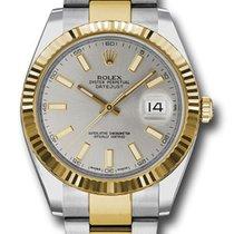 Rolex Rolex Datejust 126333 Silver Stick dial Oyster band Or/Acier 2020 Datejust 41mm nouveau