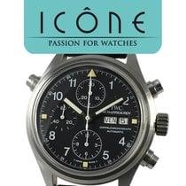 IWC Pilot Double Chronograph Acciaio 42mm Nero Arabo