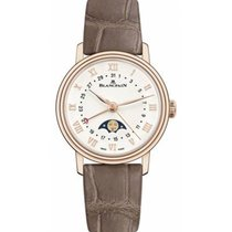 Blancpain Rose gold Automatic White Roman numerals 29mm new Villeret Moonphase