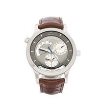 Jaeger-LeCoultre Master Geographic Ouro branco 38mm Cinzento