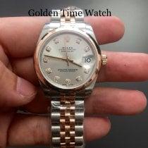 Rolex Lady-Datejust Ruzicasto zlato 31mm Srebro Bez brojeva