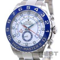 롤렉스 요트-마스터 II 스틸 44mm 흰색