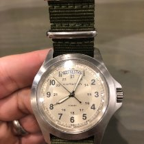 Hamilton Khaki Field King pre-owned 40mm Champagne Date Weekday Textile