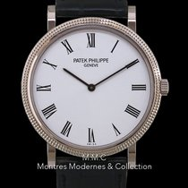 Patek Philippe Calatrava Or blanc 35mm Blanc Romains France, Paris