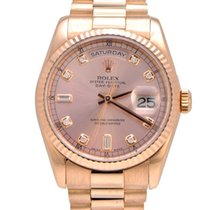 "Rolex Day Date ""President"" 18k Rose Original Diamond Dial"