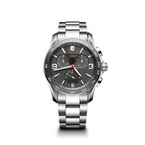Victorinox Swiss Army Chrono Classic, dark grey dial, steel,...
