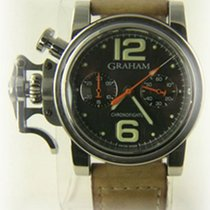 Graham Chronofighter R.A.C. pre-owned Leather