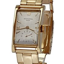 Patek Philippe Pagoda Yellow gold 23mm Silver Roman numerals