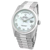 Rolex 36mm Platinum Day Date President Blue Ice Glacier 118206...