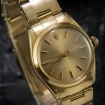 Rolex Ladies Oyster Perpetual 18K Yellow Gold - 6748