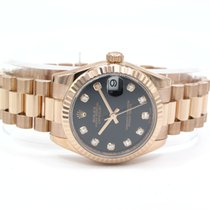 Rolex Datejust Ladies Everose 31mm With Box And Papers
