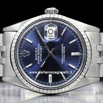 Rolex Datejust Staal 36mm Blauw