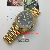 勞力士 18038 Day-Date 18K Yellow Gold with Special Black dial