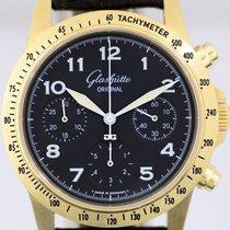 Glashütte Original Senator Navigator Chronograph rabljen 38mm Crn Kronograf Tahimetar Koza