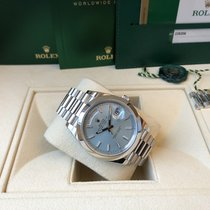 Rolex Chronometer 40mm Automatic 2016 pre-owned Day-Date 40 Blue