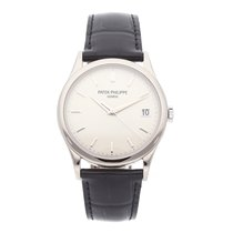 Patek Philippe Calatrava White gold 38mm Silver No numerals United States of America, Pennsylvania, Bala Cynwyd