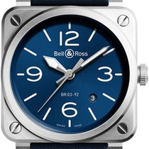 Bell & Ross BR 03-92 Steel Steel 42mm Blue United States of America, New York, Airmont