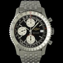 Breitling Steel Automatic Black 42mm pre-owned Navitimer