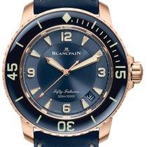 Blancpain Or rose 45mm Remontage automatique 5015 3603C 63B nouveau