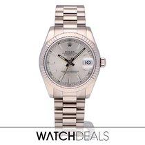 Rolex Or blanc Remontage automatique Argent Sans chiffres 31mm occasion Lady-Datejust