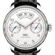 IWC Portuguese Annual Calendar Steel 44.2mm Silver Arabic numerals United States of America, New York, New York