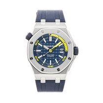 Audemars Piguet Steel Automatic Blue No numerals 42mm pre-owned Royal Oak Offshore Diver