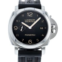 Panerai Steel Automatic Black 44mm pre-owned Luminor Marina 1950 3 Days Automatic