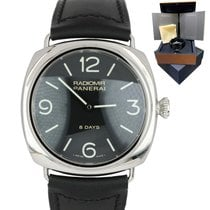 Panerai Radiomir 8 Days Stal 44mm Czarny Arabskie