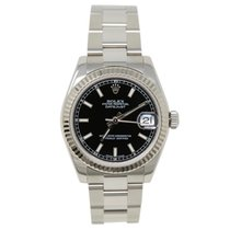 Rolex Lady-Datejust Сталь 31mm Чёрный Без цифр