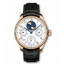 IWC Red gold Automatic White 44.2mm new Portuguese Perpetual Calendar
