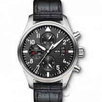 IWC Pilot Chronograph nuevo Automático Reloj con estuche y documentos originales IW377701