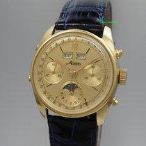 Minerva Vollkalender Mondphase Chronograph Vintage -18k/750...
