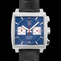 TAG Heuer Monaco Calibre 12 Steel 39.00mm Blue United States of America, California, San Mateo