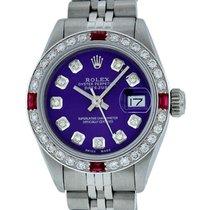 Rolex Datejust Aço 26mm Violeta