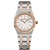 Audemars Piguet Royal Oak Lady Guld/Stål 33mm Silver Inga siffror