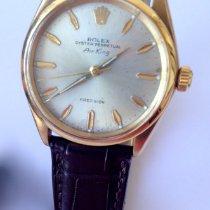 Rolex Or jaune Remontage automatique Gris Sans chiffres 34mm occasion