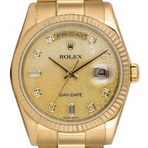 Rolex Or jaune 36mm Remontage automatique 118238