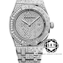 Audemars Piguet Royal Oak Lady White gold 33mm Silver No numerals