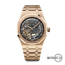 Audemars Piguet Royal Oak Double Balance Wheel Openworked 15407OR.OO.1220OR.01 New Rose gold 41mm Automatic
