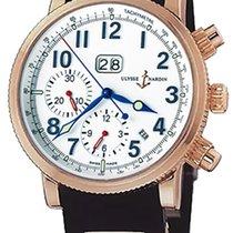 Ulysse Nardin Marine Chronograph Pозовое золото 40mm Чёрный