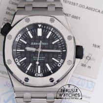 Audemars Piguet Royal Oak Offshore Diver Acero 42mm Negro Sin cifras