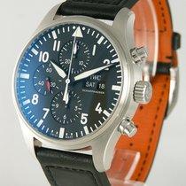 IWC Fliegeruhr Chronograph Stahl 43mm Schwarz Arabisch Deutschland, Heilbronn