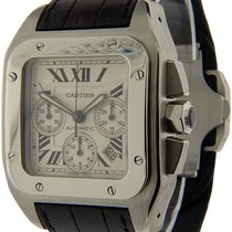 Cartier Santos 100 Steel 42mm Champagne Roman numerals United States of America, Florida, Miami