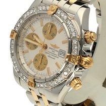 Breitling Chronomat Evolution Pilot Gold Steel  Diamonds 44 mm