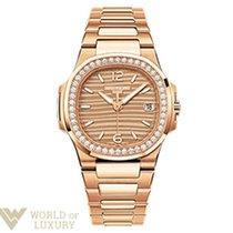Patek Philippe Nautilus 18K Rose Gold Ladies Watch with Bracelet