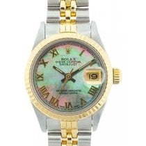 Rolex Datejust Ladies' 26mm Black Mother Of Pearl Dial...