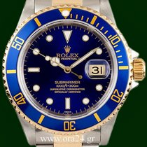 Ρολεξ (Rolex) Submariner Date 16613 Gold Steel A Series Blue Dial