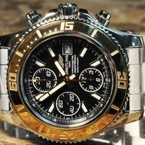 Breitling Superocean Chronograph II 18k Rose Gold with Box papers