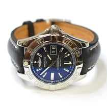 Breitling Galactic 41mm Stainless Steel Mens Watch on Leather...