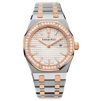 Audemars Piguet Royal Oak Quartz Rose Gold & Steel Diamond-Set...